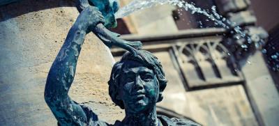 Fischbrunnen vor dem Münchner Rathaus